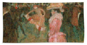 Tribute to Toulouse Lautrec - Bath Towel - ALEFBET - THE HEBREW LETTERS ART GALLERY