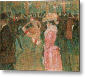Tribute to Toulouse Lautrec - Metal Print - ALEFBET - THE HEBREW LETTERS ART GALLERY