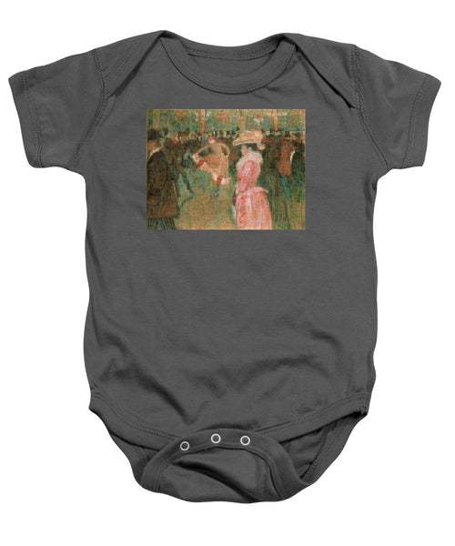 Tribute to Toulouse Lautrec - Baby Onesie - ALEFBET - THE HEBREW LETTERS ART GALLERY