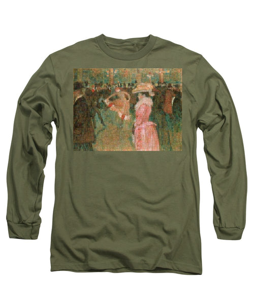 Tribute to Toulouse Lautrec - Long Sleeve T-Shirt - ALEFBET - THE HEBREW LETTERS ART GALLERY
