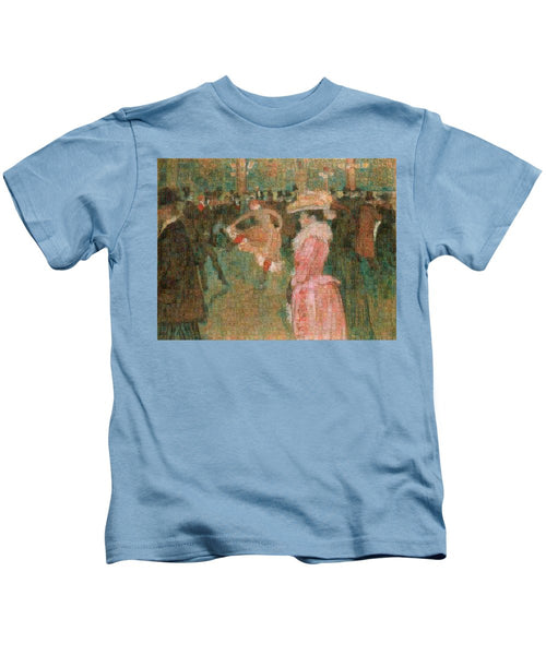 Tribute to Toulouse Lautrec - Kids T-Shirt - ALEFBET - THE HEBREW LETTERS ART GALLERY
