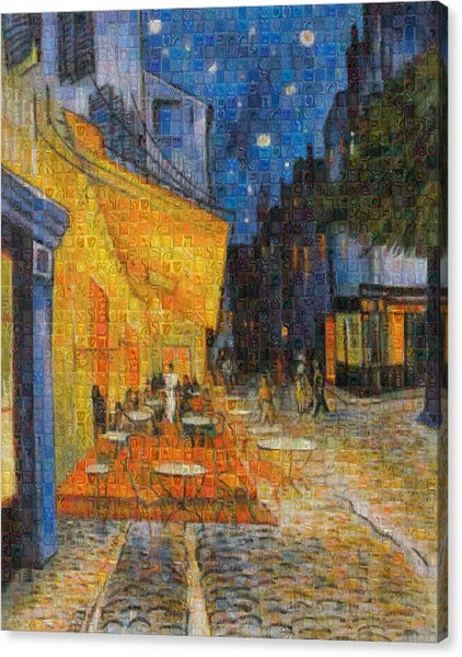 Tribute to Van Gogh - 1 - Canvas Print - ALEFBET - THE HEBREW LETTERS ART GALLERY