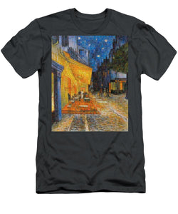Tribute to Van Gogh - 1 - T-Shirt - ALEFBET - THE HEBREW LETTERS ART GALLERY