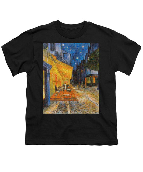 Tribute to Van Gogh - 1 - Youth T-Shirt - ALEFBET - THE HEBREW LETTERS ART GALLERY