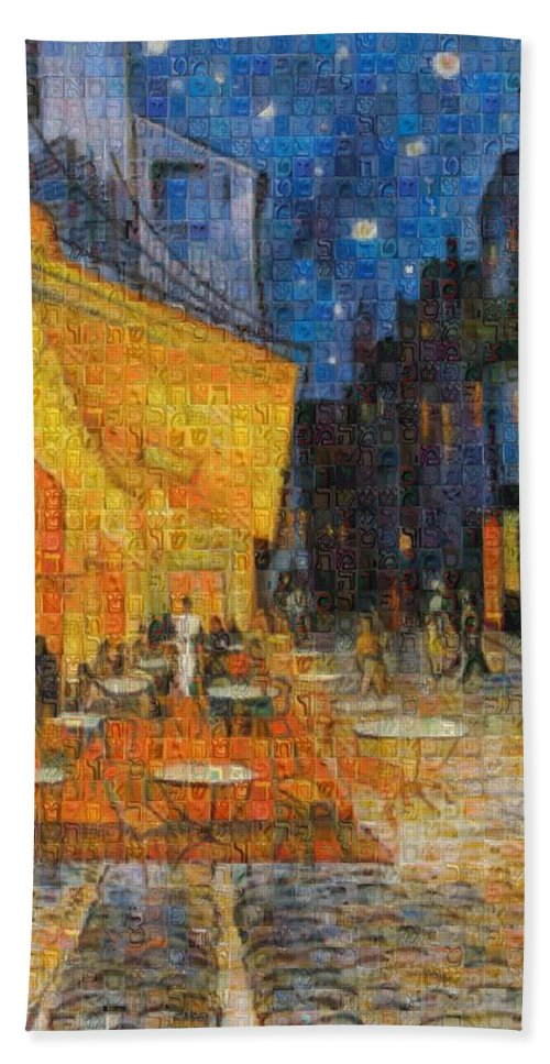 Tribute to Van Gogh - 1 - Beach Towel - ALEFBET - THE HEBREW LETTERS ART GALLERY