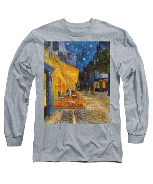 Tribute to Van Gogh - 1 - Long Sleeve T-Shirt - ALEFBET - THE HEBREW LETTERS ART GALLERY