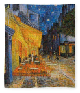 Tribute to Van Gogh - 1 - Blanket - ALEFBET - THE HEBREW LETTERS ART GALLERY