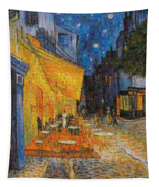Tribute to Van Gogh - 1 - Tapestry - ALEFBET - THE HEBREW LETTERS ART GALLERY