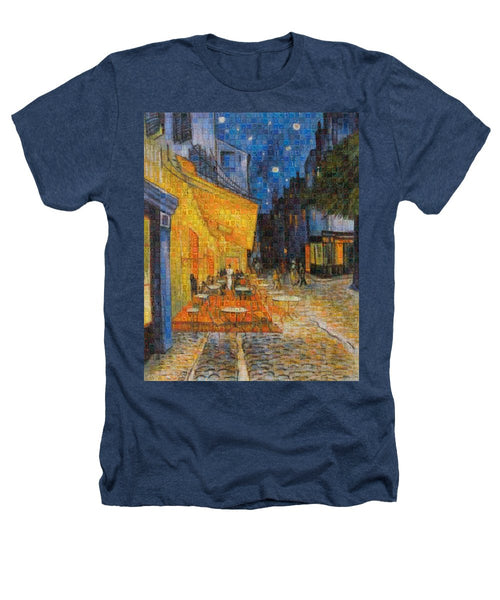 Tribute to Van Gogh - 1 - Heathers T-Shirt - ALEFBET - THE HEBREW LETTERS ART GALLERY