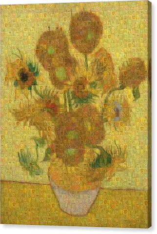 Tribute to Van Gogh - 2 - Canvas Print - ALEFBET - THE HEBREW LETTERS ART GALLERY