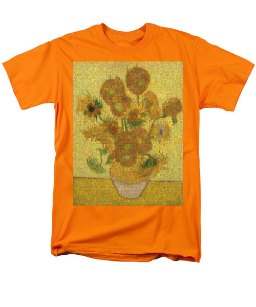 Tribute to Van Gogh - 2 - Men's T-Shirt  (Regular Fit) - ALEFBET - THE HEBREW LETTERS ART GALLERY