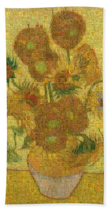 Tribute to Van Gogh - 2 - Beach Towel - ALEFBET - THE HEBREW LETTERS ART GALLERY