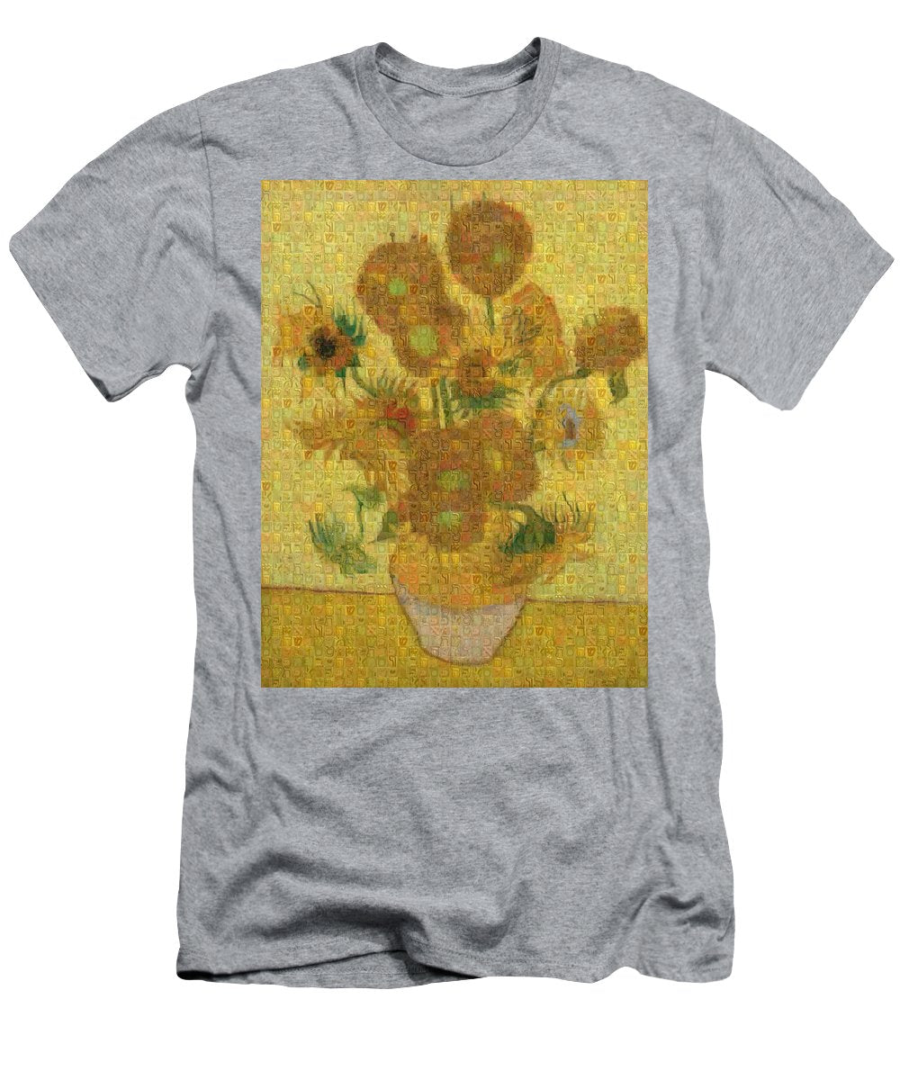 Tribute to Van Gogh - 2 - T-Shirt - ALEFBET - THE HEBREW LETTERS ART GALLERY