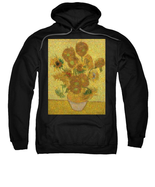 Tribute to Van Gogh - 2 - Sweatshirt - ALEFBET - THE HEBREW LETTERS ART GALLERY