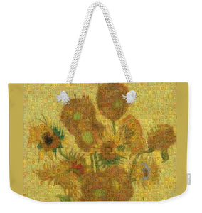 Tribute to Van Gogh - 2 - Weekender Tote Bag - ALEFBET - THE HEBREW LETTERS ART GALLERY