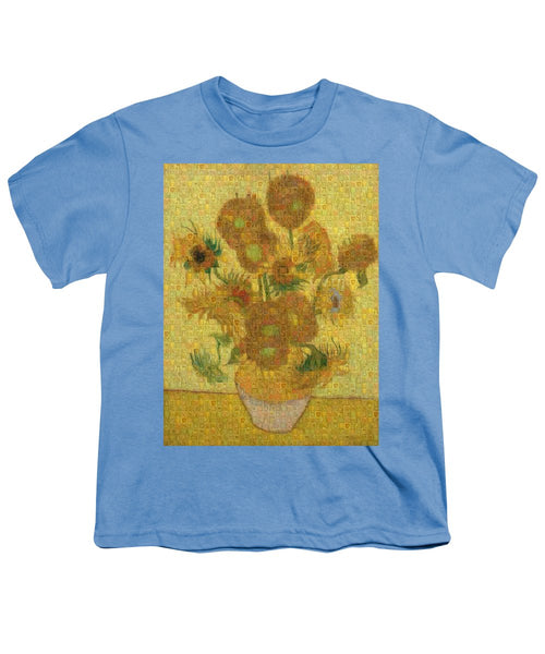 Tribute to Van Gogh - 2 - Youth T-Shirt - ALEFBET - THE HEBREW LETTERS ART GALLERY