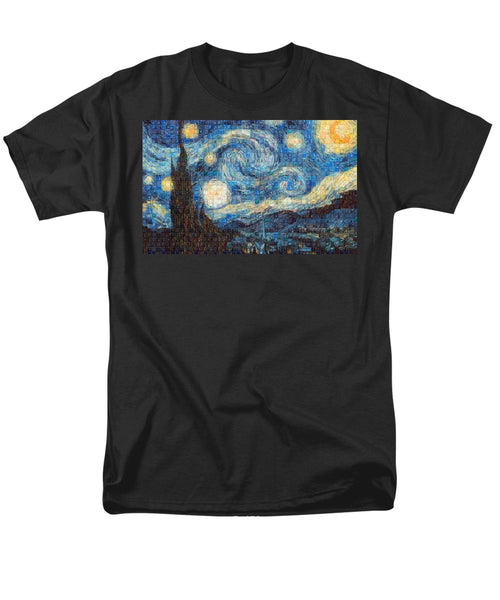 Tribute to Van Gogh - 3 - Men's T-Shirt  (Regular Fit) - ALEFBET - THE HEBREW LETTERS ART GALLERY