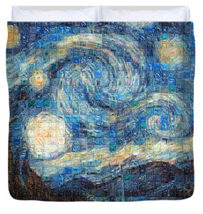 Tribute to Van Gogh - 3 - Duvet Cover - ALEFBET - THE HEBREW LETTERS ART GALLERY