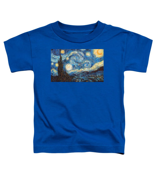 Tribute to Van Gogh - 3 - Toddler T-Shirt - ALEFBET - THE HEBREW LETTERS ART GALLERY