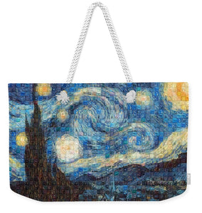 Tribute to Van Gogh - 3 - Weekender Tote Bag - ALEFBET - THE HEBREW LETTERS ART GALLERY