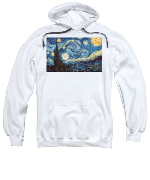 Tribute to Van Gogh - 3 - Sweatshirt - ALEFBET - THE HEBREW LETTERS ART GALLERY