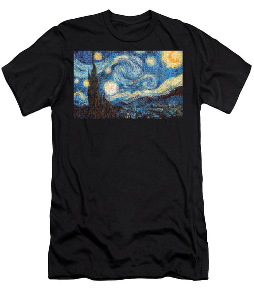 Tribute to Van Gogh - 3 - T-Shirt - ALEFBET - THE HEBREW LETTERS ART GALLERY