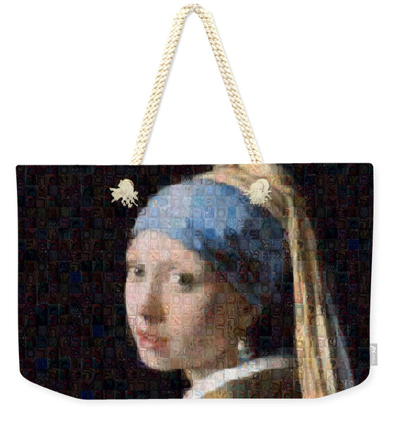 Tribute to Vermeer - Weekender Tote Bag - ALEFBET - THE HEBREW LETTERS ART GALLERY