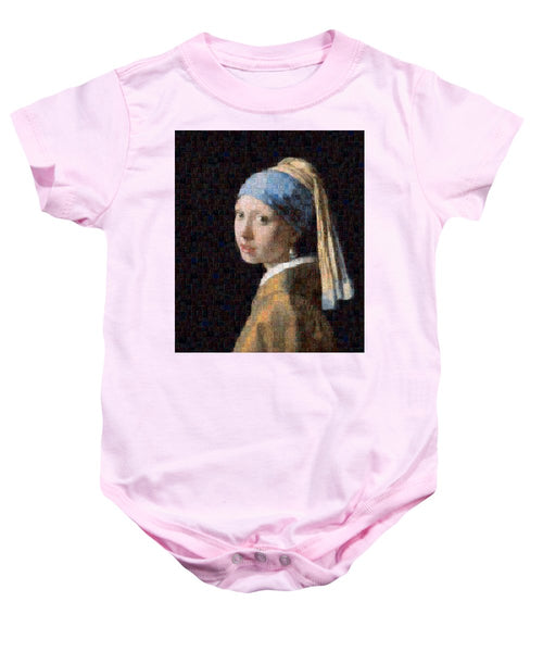 Tribute to Vermeer - Baby Onesie - ALEFBET - THE HEBREW LETTERS ART GALLERY