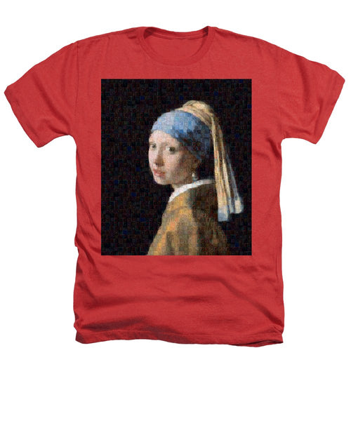 Tribute to Vermeer - Heathers T-Shirt - ALEFBET - THE HEBREW LETTERS ART GALLERY