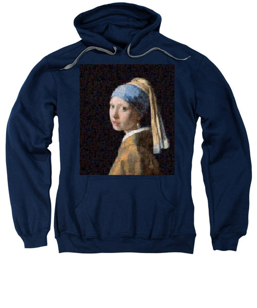 Tribute to Vermeer - Sweatshirt - ALEFBET - THE HEBREW LETTERS ART GALLERY