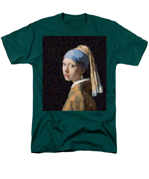 Tribute to Vermeer - Men's T-Shirt  (Regular Fit) - ALEFBET - THE HEBREW LETTERS ART GALLERY