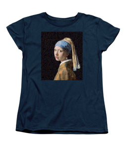 Tribute to Vermeer - Women's T-Shirt (Standard Fit) - ALEFBET - THE HEBREW LETTERS ART GALLERY