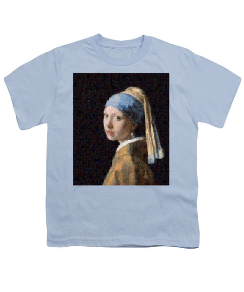 Tribute to Vermeer - Youth T-Shirt - ALEFBET - THE HEBREW LETTERS ART GALLERY