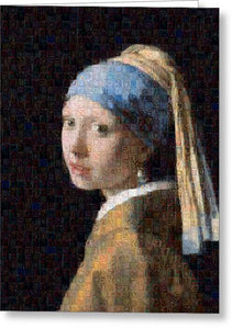 Tribute to Vermeer - Greeting Card - ALEFBET - THE HEBREW LETTERS ART GALLERY