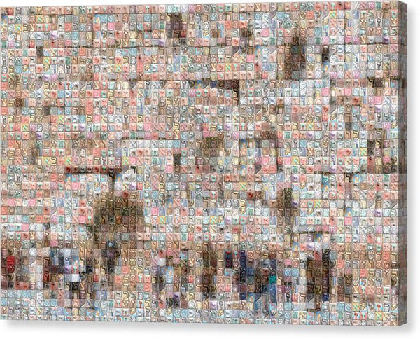 Western Wall - Canvas Print - ALEFBET - THE HEBREW LETTERS ART GALLERY