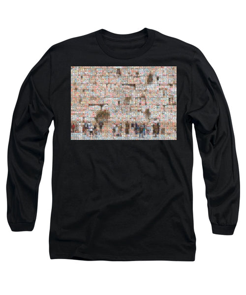 Western Wall - Long Sleeve T-Shirt - ALEFBET - THE HEBREW LETTERS ART GALLERY