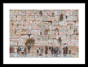 Western Wall - Framed Print - ALEFBET - THE HEBREW LETTERS ART GALLERY