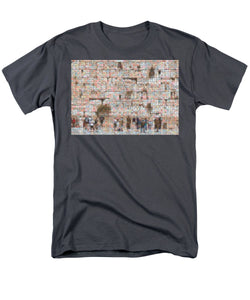 Western Wall - Men's T-Shirt  (Regular Fit) - ALEFBET - THE HEBREW LETTERS ART GALLERY