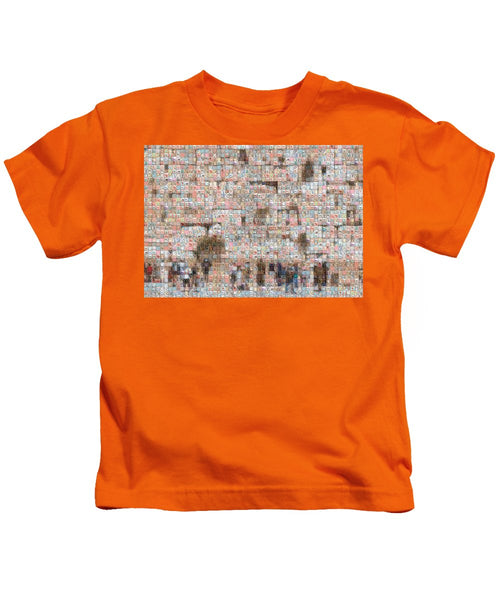 Western Wall - Kids T-Shirt - ALEFBET - THE HEBREW LETTERS ART GALLERY