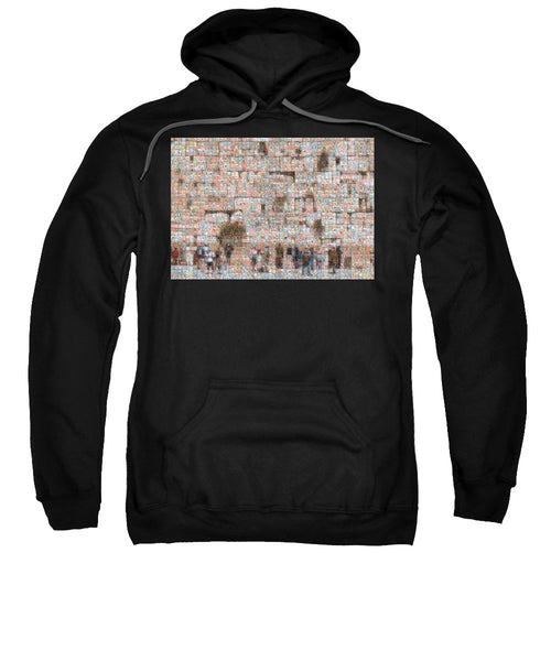 Western Wall - Sweatshirt - ALEFBET - THE HEBREW LETTERS ART GALLERY