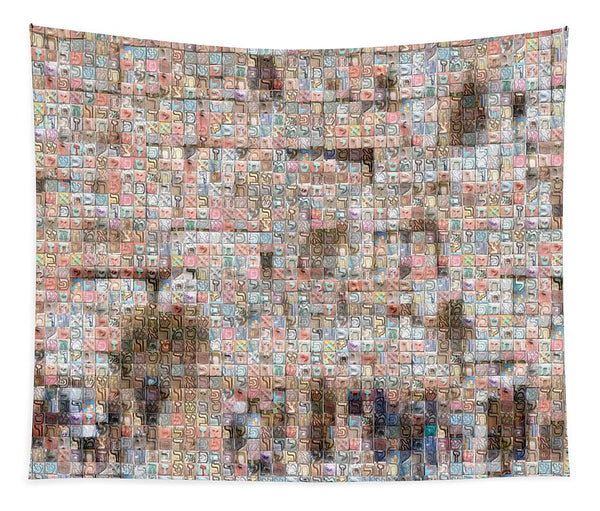 Western Wall - Tapestry - ALEFBET - THE HEBREW LETTERS ART GALLERY