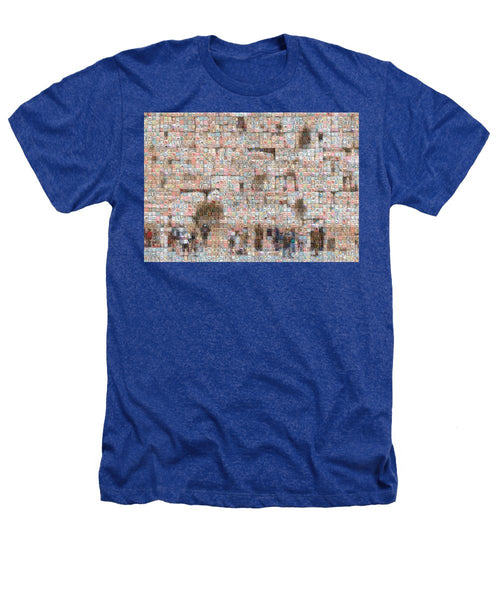 Western Wall - Heathers T-Shirt - ALEFBET - THE HEBREW LETTERS ART GALLERY