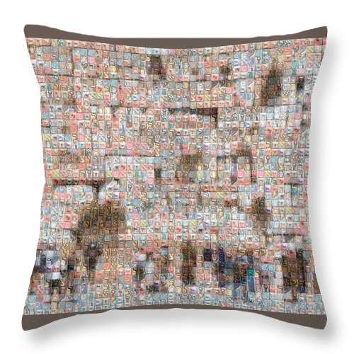 Western Wall - Throw Pillow - ALEFBET - THE HEBREW LETTERS ART GALLERY