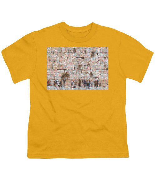 Western Wall - Youth T-Shirt - ALEFBET - THE HEBREW LETTERS ART GALLERY