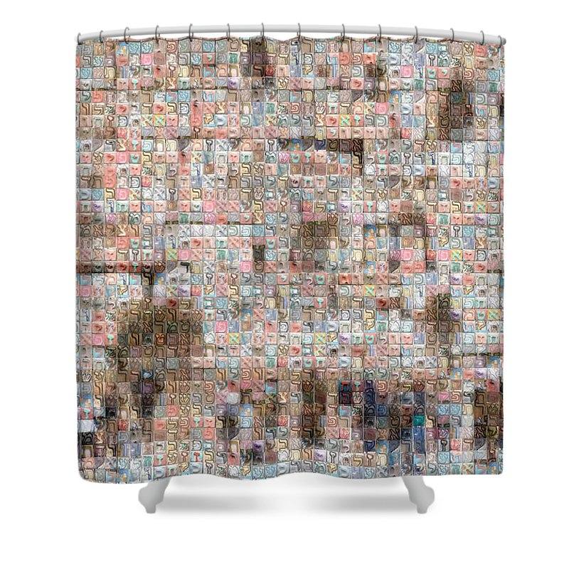 Western Wall - Shower Curtain - ALEFBET - THE HEBREW LETTERS ART GALLERY