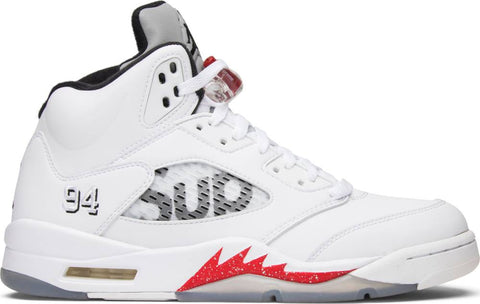 Supreme x Air Jordan 5 Retro 'White'
