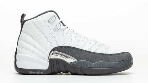 Air Jordan 12 White / Grey