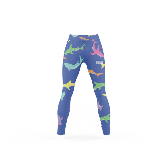 Tropical Shark Leggings