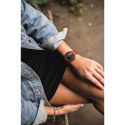 WoodBury Classic Watch - Red - Women - Luxurelle-Shop