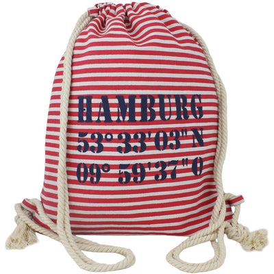 "City Turnbeutel ""Hamburg"" Tasche Bag Backpack Maritim in 2 Farben - Luxurelle-Shop"